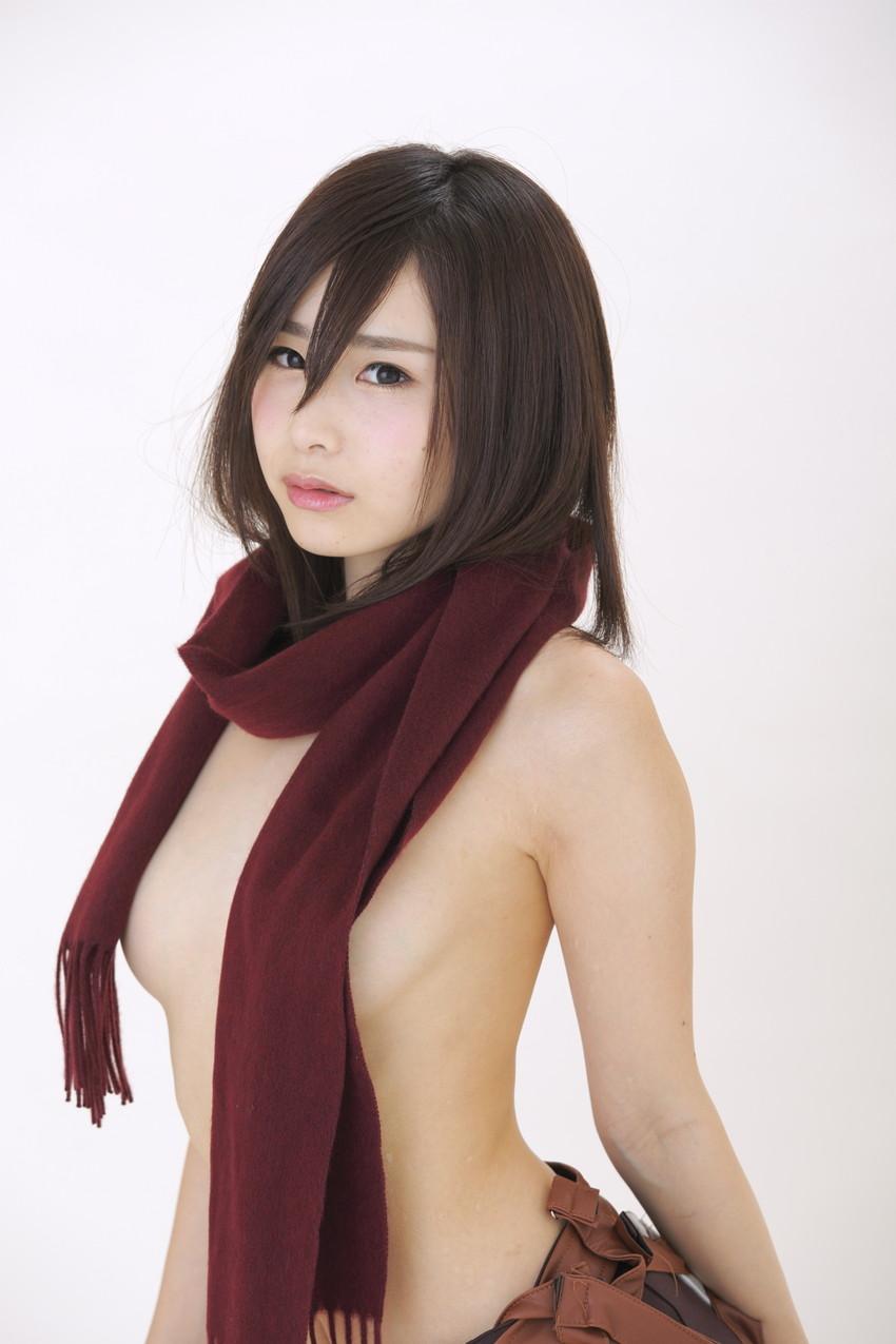 【コスプレエロ画像】着エロもこなす過激なコスプレイヤー逢坂愛の過激コス! 46
