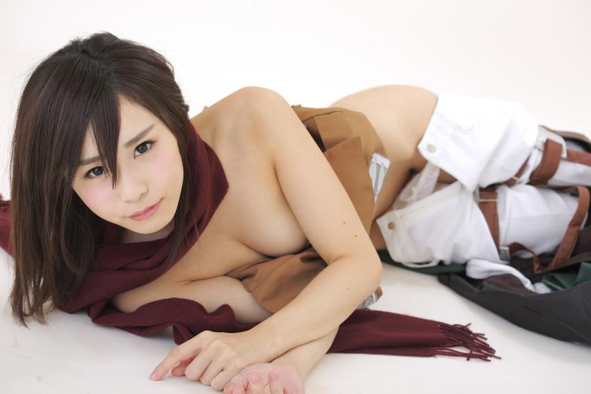【コスプレエロ画像】着エロもこなす過激なコスプレイヤー逢坂愛の過激コス! 54