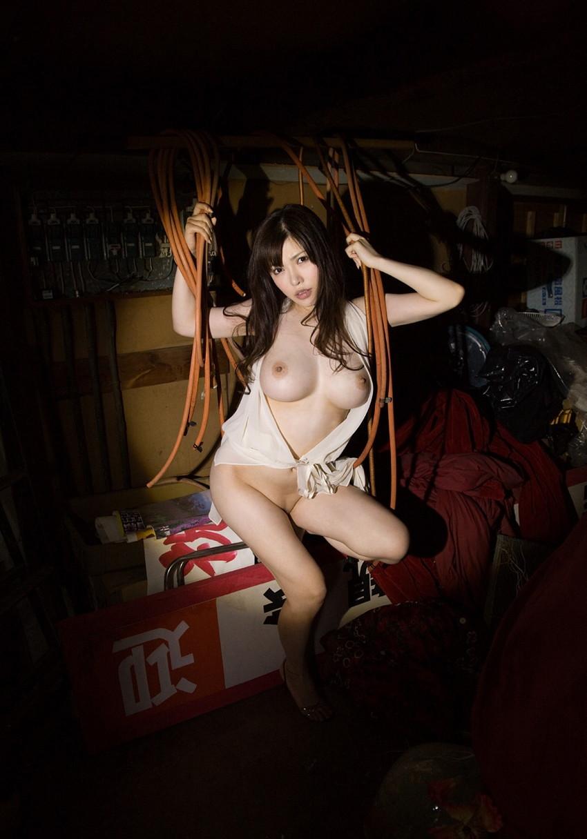 【沖田杏梨エロ画像】なんだこのけしからんおっぱい!Lカップ爆乳のAV女優! 22