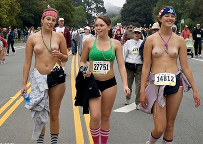 【※衝撃】全裸マラソンとかいうマジキチイベの様子がコチラ →割と本気で走っててワロタwwwww(画像あり)