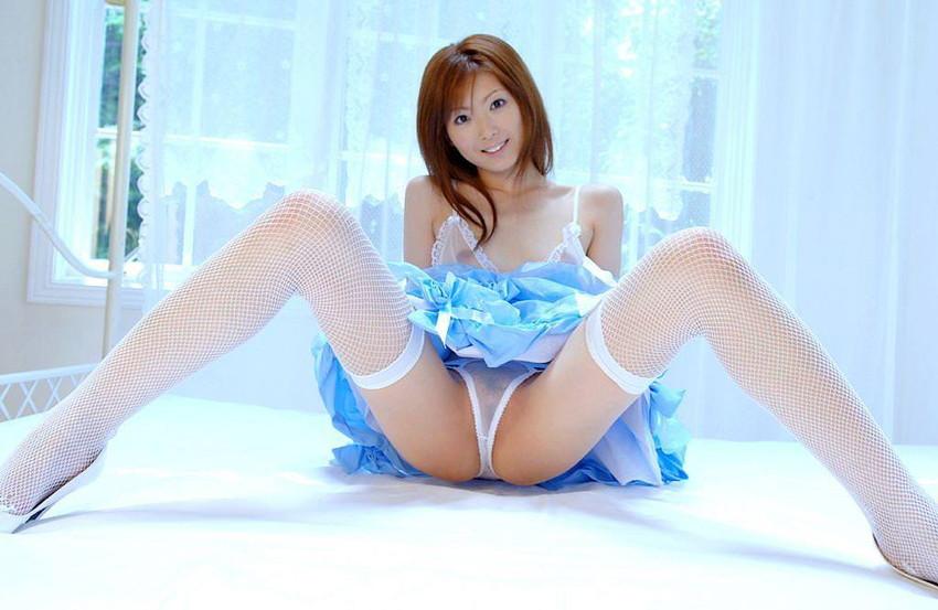 【シースルーエロ画像】美女のスケスケ下着姿がフル勃起確実なエロさw(50枚) 12