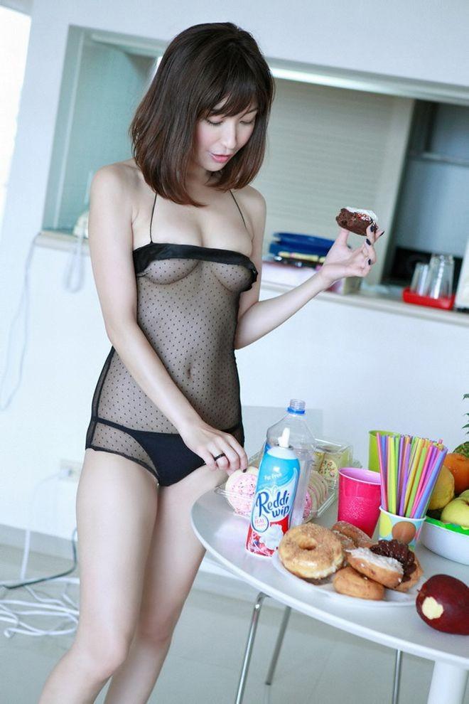 【シースルーエロ画像】美女のスケスケ下着姿がフル勃起確実なエロさw(50枚) 50