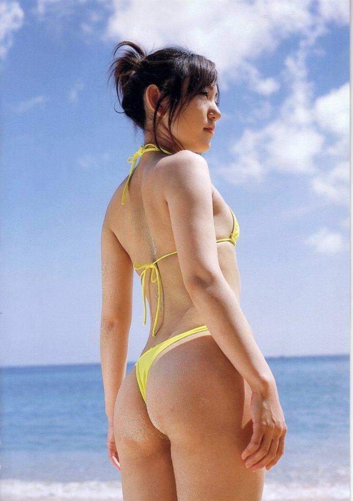 【紐水着エロ画像】まるで裸のような過激水着姿がエロすぎるw(50枚) 36