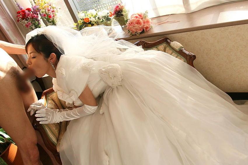 【花嫁エロ画像】美女の乱れたウェディングドレス姿が激エロw(53枚) 35
