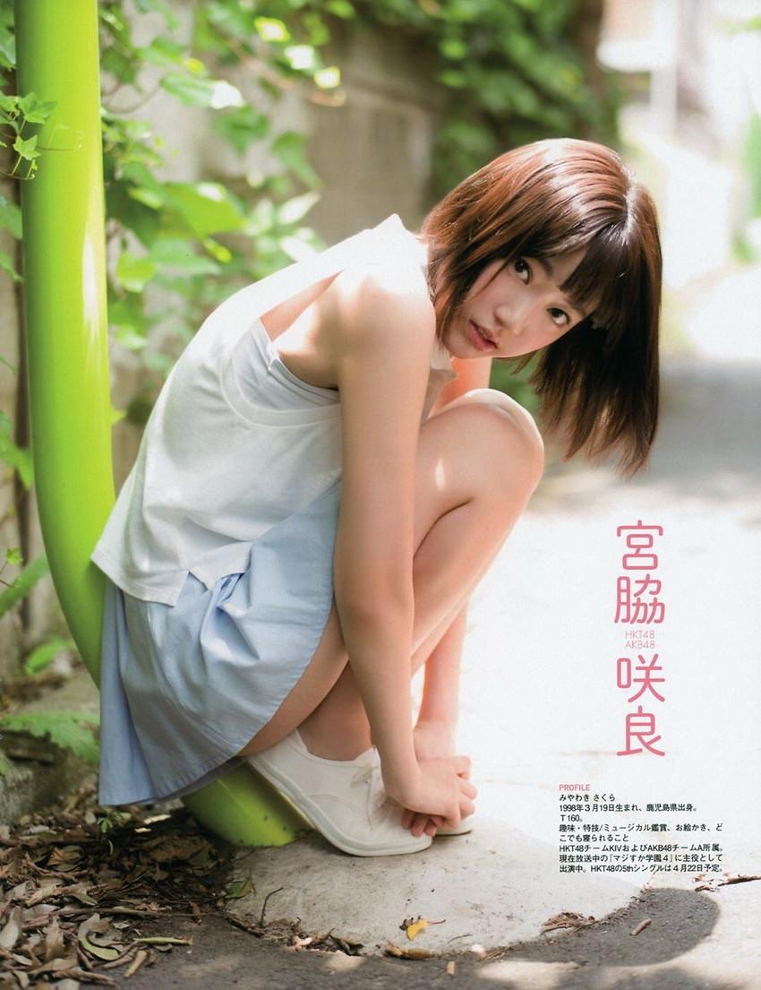 【グラビアエロ画像】HKT宮脇咲良のセクシー水着姿がエロ可愛いwwww(54枚) 25