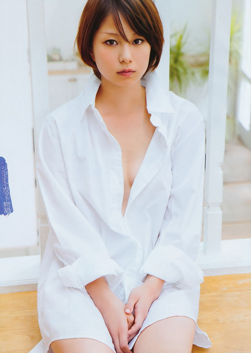 【ワイシャツエロ画像】美女の白シャツ姿がエロいw裸ワイシャツ最高wwww(52枚) 39