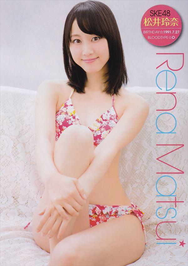 【グラビアエロ画像】SKEの松井玲奈ちゃんの清楚すぎるグラビア!水着や下着など色々あります 43