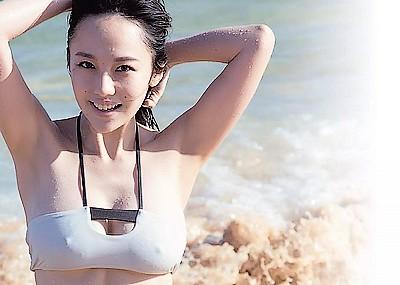 【グラビアエロ画像】Gカップ美巨乳の歌手、谷村奈南のドスケベ画像!