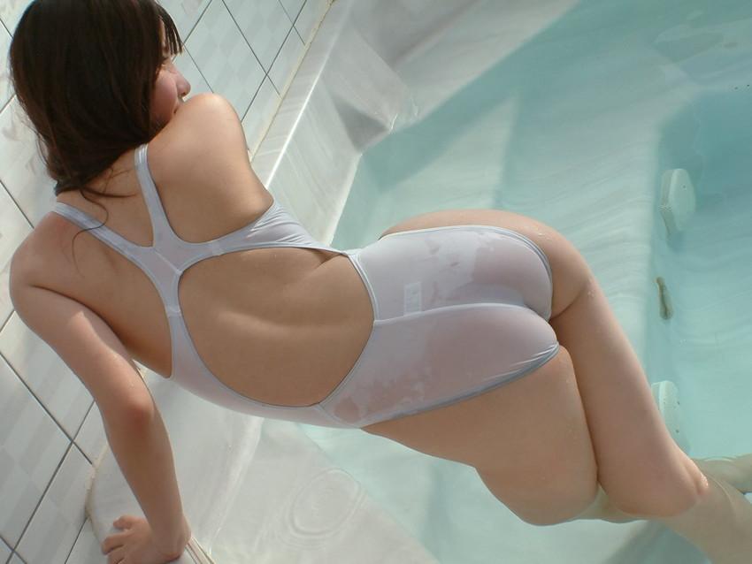 【競泳水着エロ画像】水着をずらしてチンコを挿入したくなってしまう、スク水画像がこちらですwww 08