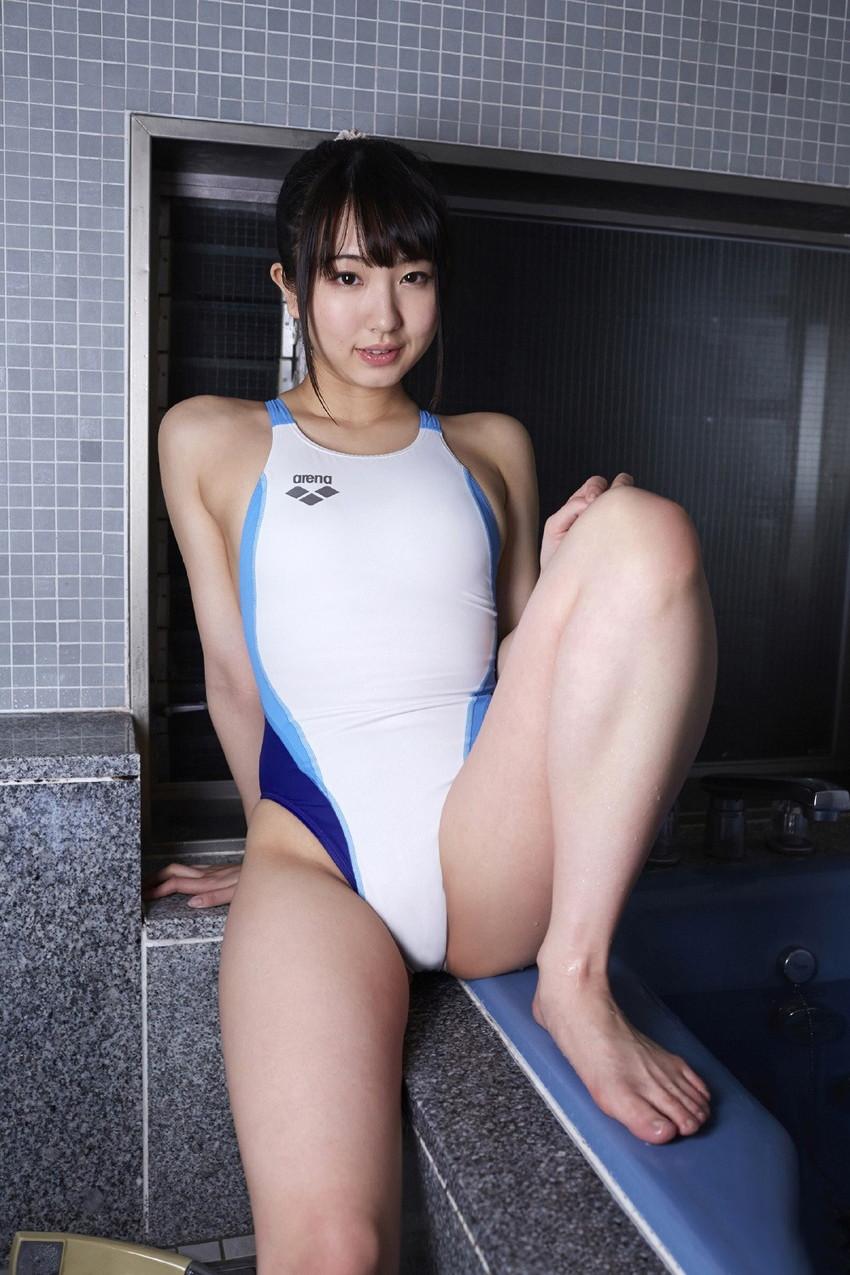 【競泳水着エロ画像】水着をずらしてチンコを挿入したくなってしまう、スク水画像がこちらですwww 21