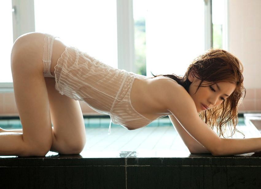 【透け下着エロ画像】おっぱいやおマンコが透けている下着や水着画像wwww 28
