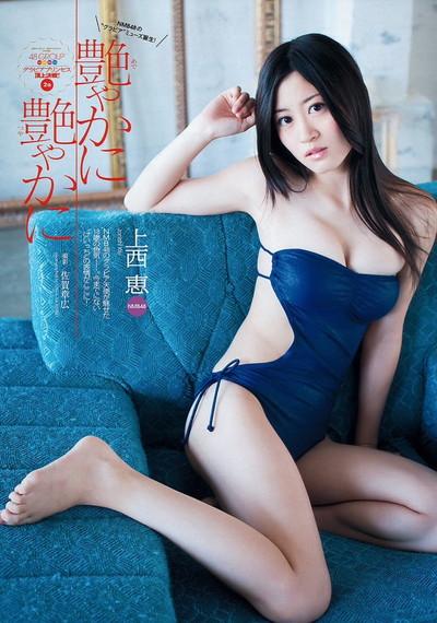 【上西恵エロ画像】優等生キャラでしかも清楚なのに、このスケベ過ぎる身体はなんだ・・・(※勃起注意) 43