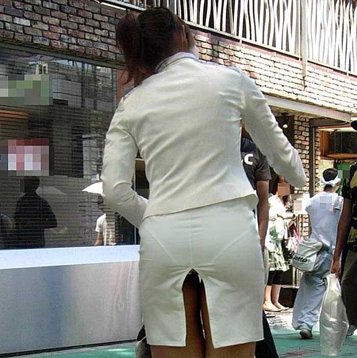 【透けパンツエロ画像】透けパン最高!スカートやズボンから透けるパンティー。オカズとしてお世話になっていますが、この透け具合女性陣は意識してんすか? 05