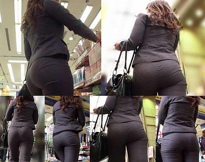 【パンツスーツエロ画像】タイトなパンツスーツの尻ほどエロいものは無い!街中で最もエロい恰好で歩いちゃってる働く女性達の尻画像厳選50枚でヌけ! 05