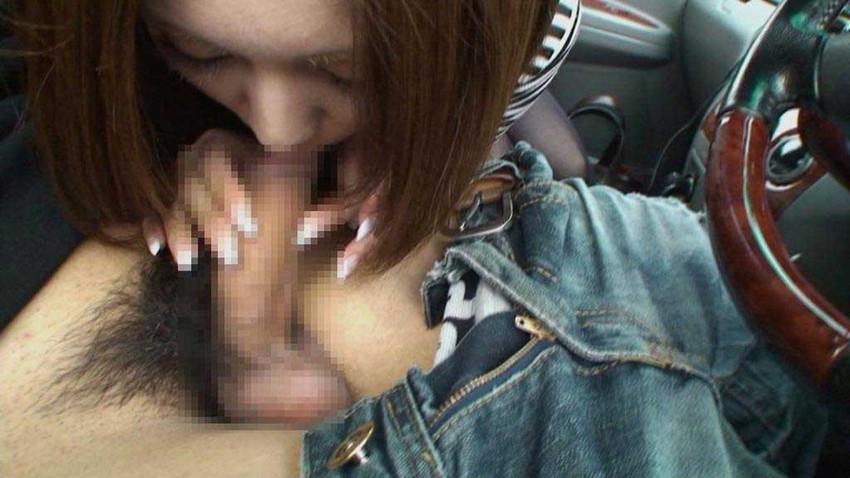 【車内フェラエロ画像】車内でフェラってドキドキで超エロい!もう誰かに見られちゃってもいいよね的な車の中でのフェラ画像50枚 25
