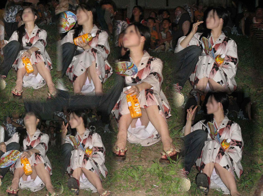 【祭りエロ画像】カップルからのおすそ分けwwお祭りでテンション上がってる娘のパンチラやお神輿での乳首露出など・・お祭りエロ画像集 44
