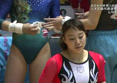 【※放送事故※】全日本体操選手権の生放送でムチムチ19歳美少女のドテマ○コが映るwwwwwwwwwww