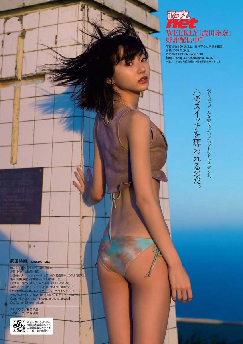 【武田玲奈エロ画像】カワイイが数値化できたら今一番ハイスコアであろう武田玲奈の、ポッキーのCMでは見られない水着グラビア画像集 45