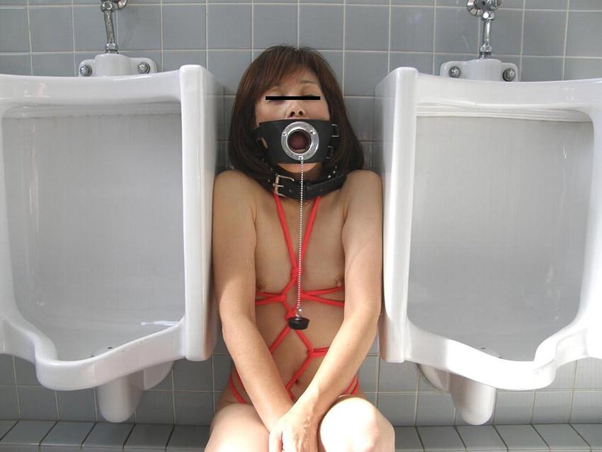 【公衆トイレエロ画像】変態感ハンパない!公衆トイレでヤられてるエロ画像集!完全に鬼畜のオンナ達で抜きまくれ!! 06